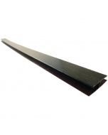 Freefoam Soffit H Joint Trim - 5 Metre - Woodgrain Black Ash
