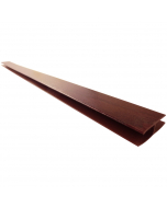 Freefoam Soffit H Joint Trim - 5 Metre - Woodgrain Rosewood