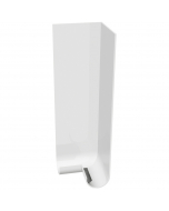Freefoam Magnum Round Nose Fascia Board Double External Corner - 600mm - White