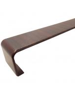 Freefoam Square Edged Fascia Board Joiner - 300mm - Woodgrain Mahogany