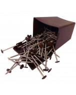 Plastops Plastic Headed Nails - 50mm - Dark Brown (100 Pack)