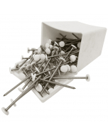Plastops Plastic Headed Nails - 65mm - White (100 Pack)