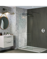 Bushboard Nuance Roche Natural Greystone Bathroom Wall Panel - Finishing Panel - 160mm