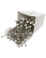 Plastops Plastic Headed Pins - 40mm - White (200 Pack)