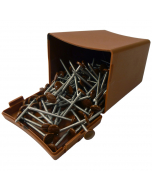 Plastops Plastic Headed Pins - 40mm - Light Brown (200 Pack)