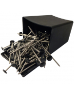 Plastops Plastic Headed Nails - 50mm - Black (100 Pack)