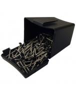 Plastops Plastic Headed Pins - 40mm - Black (200 Pack)