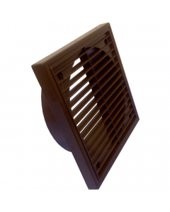 Manrose 100mm Fixed Wall Grille Vent - Brown
