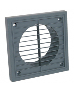 Manrose 100mm Fixed Wall Grille Vent - Grey