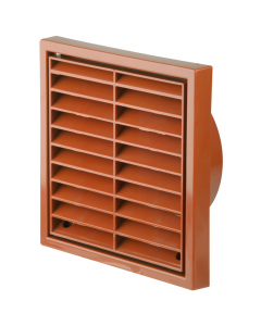 Manrose 100mm Fixed Wall Grille Vent - Terracotta