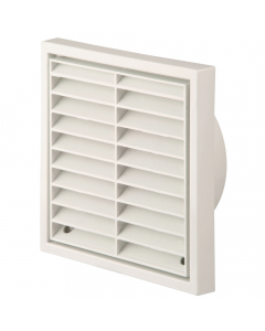 Manrose 100mm Fixed Wall Grille Vent - White