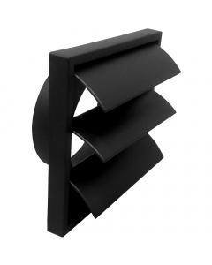 Manrose 100mm Gravity Shutter Outlet - Black