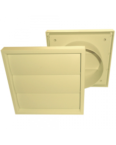 Manrose 100mm Gravity Shutter Outlet - Cotswold Stone