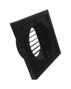 Manrose 125mm Fixed Wall Grille Vent - Black