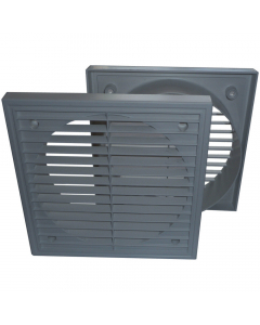 Manrose 125mm Fixed Wall Grille Vent - Grey