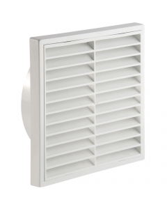 Manrose 125mm Fixed Wall Grille Vent - White