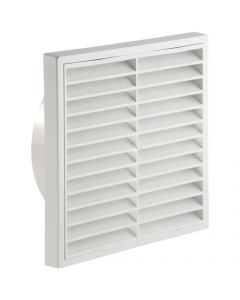 Manrose 150mm Fixed Wall Grille Vent - White