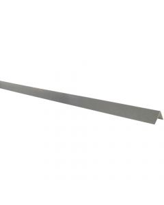 Mr Plastic 20mm x 20mm Plastic Angle - 2.7 Metre - Silver