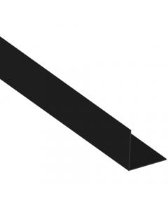 Mr Plastic 25mm x 25mm Plastic Angle - 2.5 Metre - Black