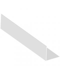 Mr Plastic 25mm x 25mm Plastic Angle - 2.5 Metre - White