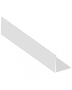 Mr Plastic 30mm x 30mm Plastic Angle - 2.5 Metre - White