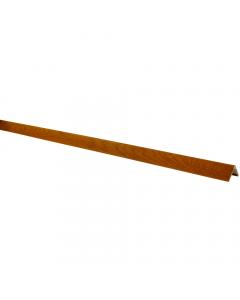 Mr Plastic 40mm x 40mm Plastic Angle - 5 Metre - Woodgrain Light Oak