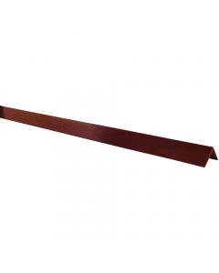 Mr Plastic 40mm x 40mm Plastic Angle - 5 Metre - Woodgrain Rosewood