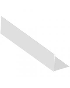 Mr Plastic 50mm x 50mm Plastic Angle - 2.5 Metre - White