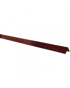 Mr Plastic 50mm x 50mm Plastic Angle - 5 Metre - Woodgrain Rosewood
