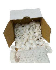 Mr Plastic Plastidome 2 Part Domed Screw Cap - White (200 Pack)