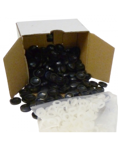 Mr Plastic Plastidome 2 Part Domed Screw Cap - Black (200 Pack)