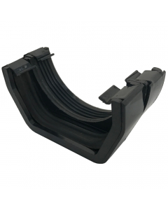 Osma 112mm Round to 100mm Square Gutter Connector - Black