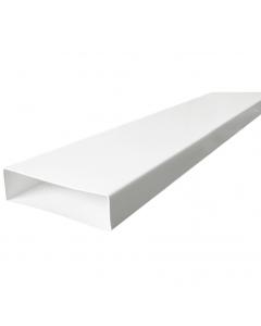 Manrose 204mm x 60mm Flat Ducting PVC Pipe - 2 Metre