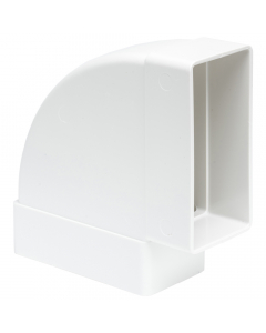 Manrose 204mm x 60mm Flat Ducting Pipe 90 Degree Horizontal Bend