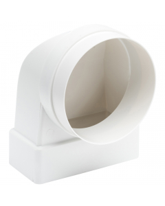 Manrose 220mm x 90mm Flat to 150mm Round Pipe 90 Degree Elbow