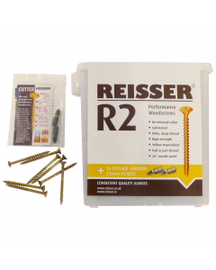 Reisser Woodscrews Tub - 5mm x 80mm (400 Pack)