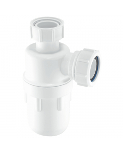 "McAlpine 75mm Water Seal Bottle Trap - 1 ¼"" - Standard Inlet"