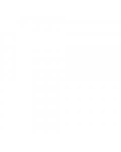 Basix PVC White High Gloss Wall Panel - 2700mm x 250mm x 5mm (4 Pack)
