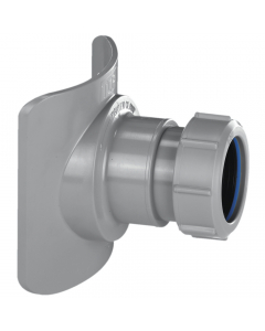 "McAlpine 4"" Mechanical Soil Boss Pipe Connector - 1 ½"" - Grey"