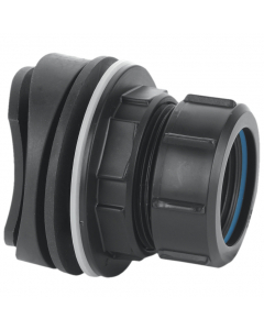 "McAlpine Mechanical Soil and Rainwater Boss Pipe Connector - 1 ¼"" - Black"