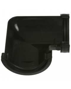 Cascade Cast Iron Style 112mm Roundstyle - Half Round 90 Degree Gutter Angle