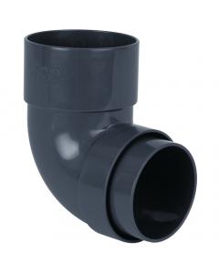 Brett Martin 68mm Round 92.5 Degree Downpipe Bend - Anthracite Grey