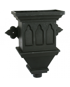 Cascade Cast Iron Style Gothic Hopper