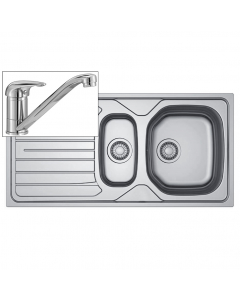Basix Inset Sink & Tap Pack - 1.5 Bowl - Stainless Steel