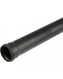 Cascade Cast Iron Style 110mm Push Fit Soil Single Socket Pipe - 2.5 Metre