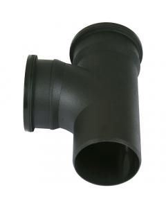 Cascade Cast Iron Style 110mm Push Fit Soil Double Socket 92.5 Degree Branch