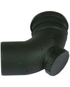 Cascade Cast Iron Style 110mm Push Fit Soil 92.5 Degree Access Bend