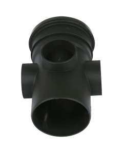 Cascade Cast Iron Style 110mm Push Fit Soil Single Socket Boss Pipe