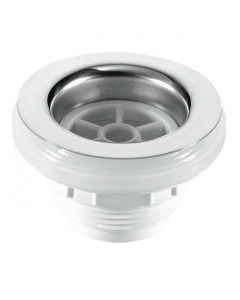 "McAlpine 70mm Stainless Steel Flange Backnut Bath Waste - 1 ½"" Tail - Unslotted Plug"