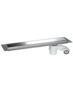 McAlpine Wet Room Channel Drain - 584mm - Standard - Polished Metallic Finish